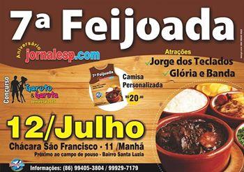 Tradicional Feijoada do Jornalesp será realizada neste domingo (12) em Esperantina