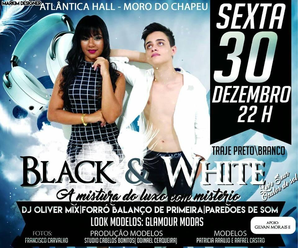 Festa do preto e branco acontece dia 30 no Morro do Chapéu