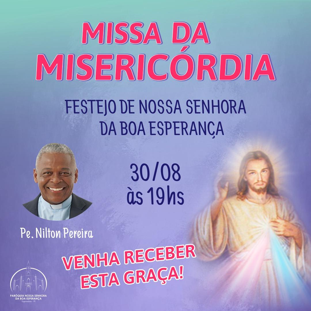 Padre Nilton Pereira vai celebrar a Missa da Misericórdia hoje (30) em Esperantina