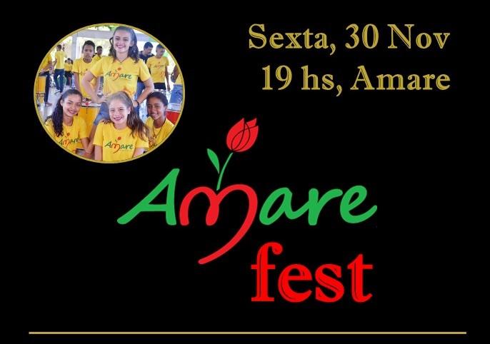 Amare Fest será realizado na próxima sexta-feira (30)