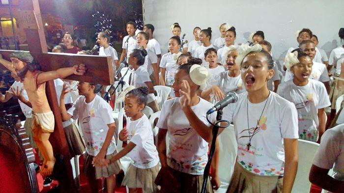 Coral da AMARE participou da Festa de Nossa Senhora em Luis Correia