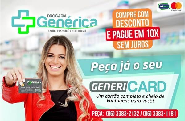 Cartão GENERICARD dá descontos de até 10% nas Drogarias Genéricas de Esperantina