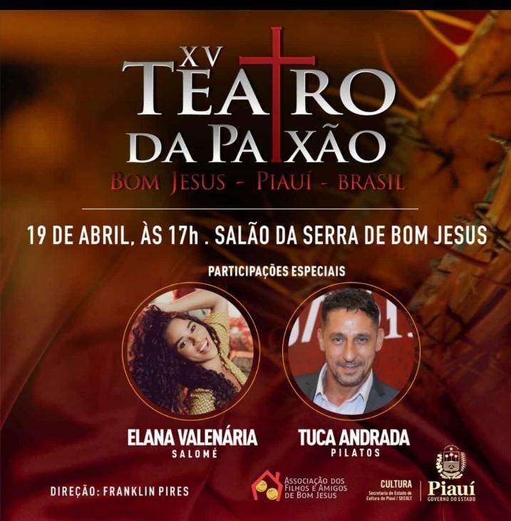 Elana vai participar de apresentação da 'Paixão de Cristo' em município do Piauí