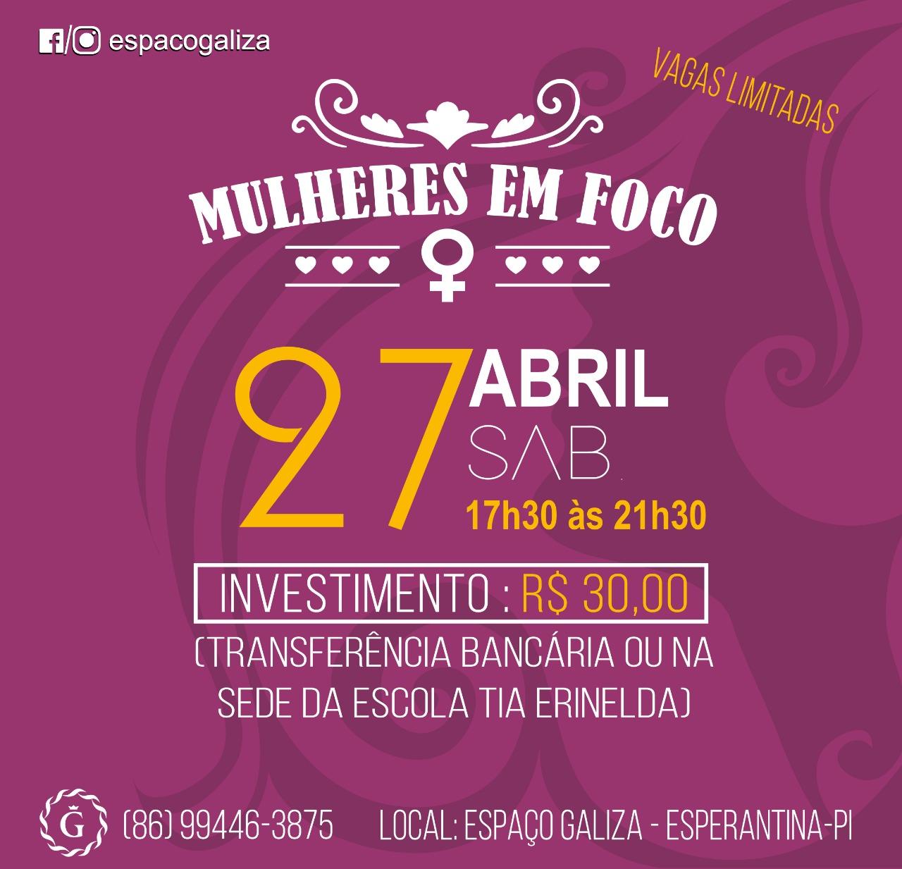 Espaço Galiza organiza evento voltado para as mulheres