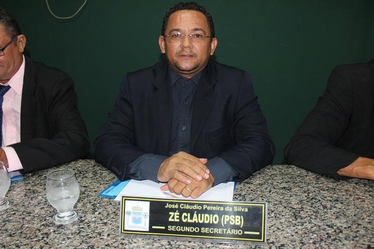 Vereador Zé Claudio vai se filiar ao MDB em Esperantina