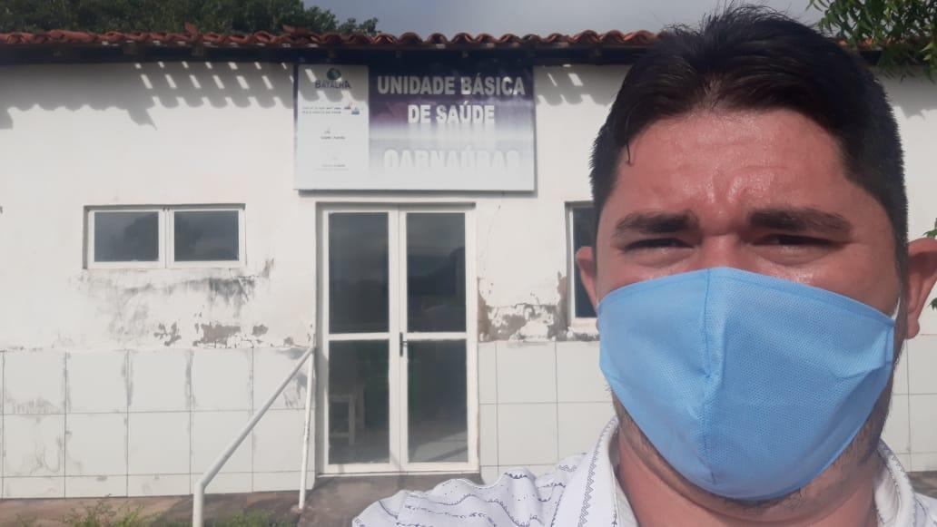 Vereador de Batalha fiscaliza postos de saúde na zona rural do município