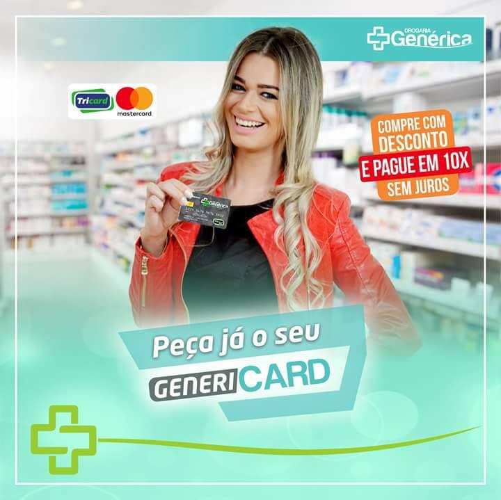 Drogaria Genérica inova e disponibiliza cartões de créditos para seus clientes