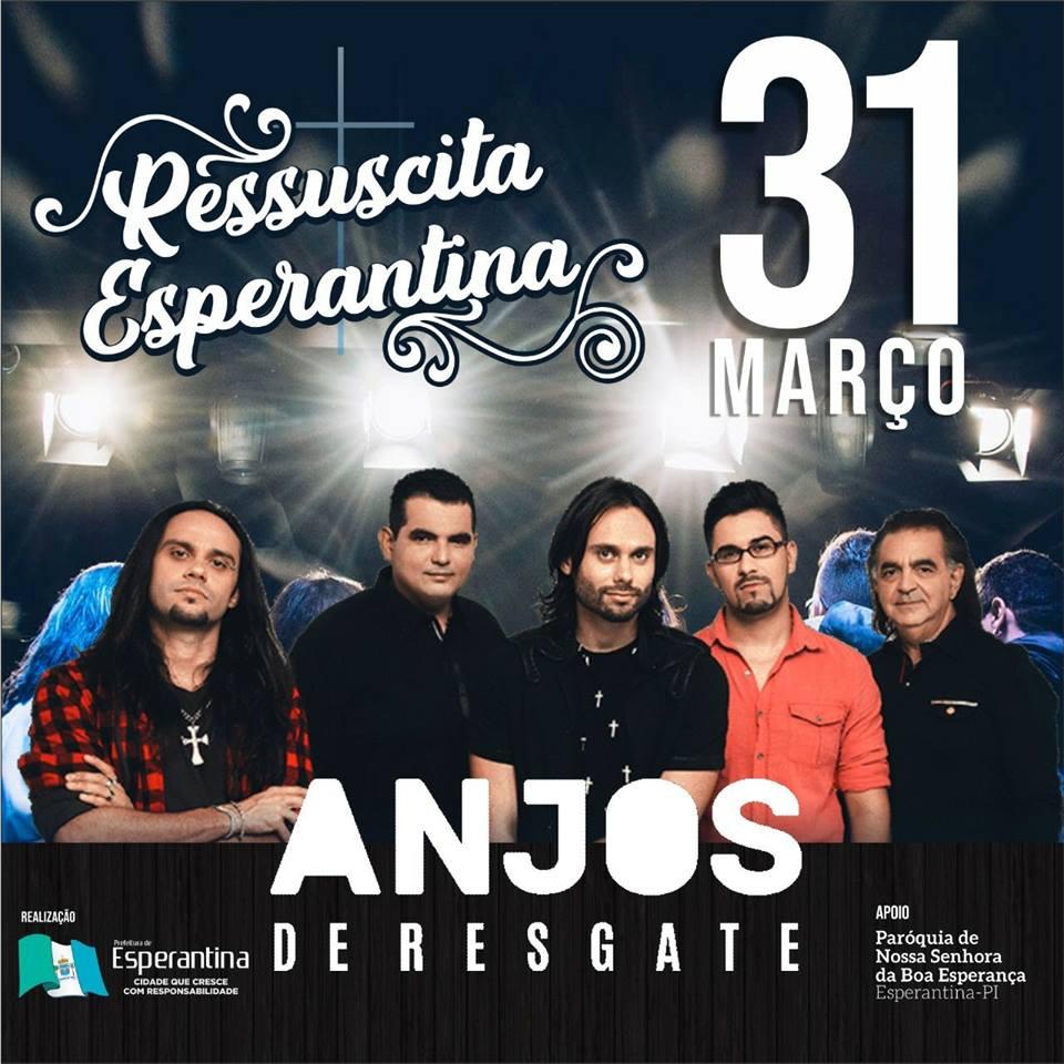 Banda Anjos de Resgate vai realizar show em Esperantina na programação da Semana Santa
