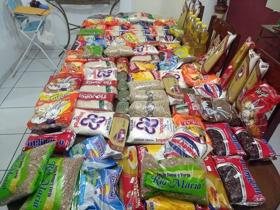 Alimentos arrecadados na Festa do Trabalhador Solidário serão distribuídos para os alagados