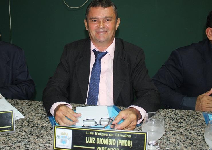 Vereador Luís Dionisio solicita construção de calçadão no chafariz do bairro Morro da Chapadinha