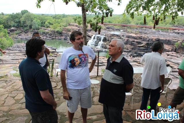 Arquiteto responsável pelo projeto da revitalização da Cachoeira do Urubu visita Esperantina