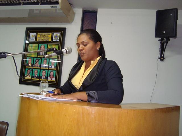 Vereadora de Batalha apresenta indicações na Câmara Municipal
